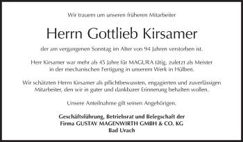 Zur Gedenkseite von Gottlieb